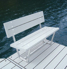 Pier Pleasure Vinyl Bench