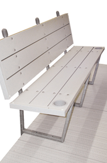 Brock Vinyl Dock Bench