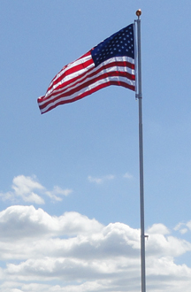 16' Telescoping DH Flag Pole
