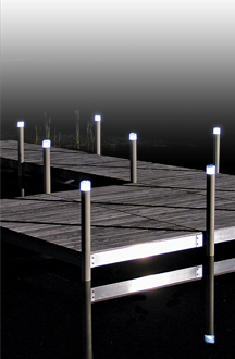 Solar Powered Dock Post Light