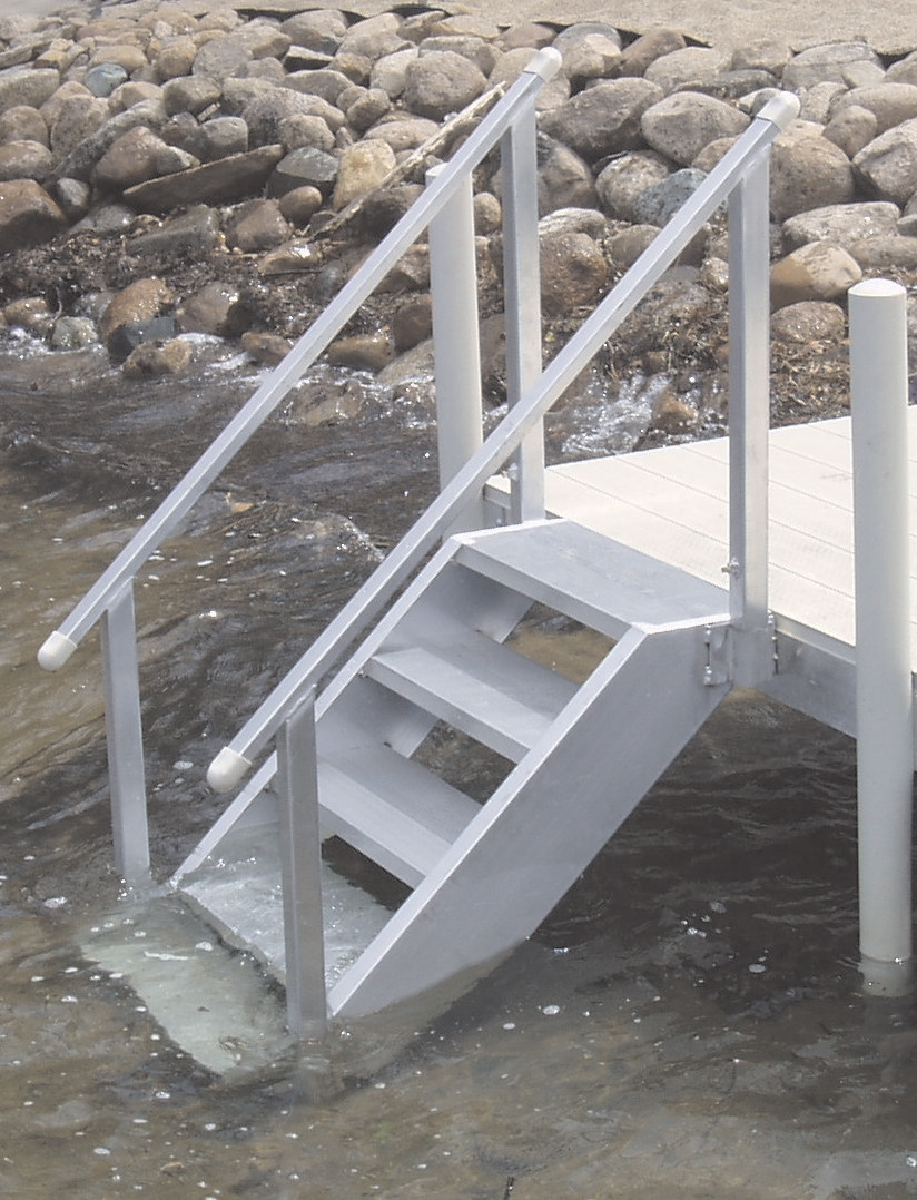 Bon Everyone Will Love How Easy It Is Getting In And Out Of The Water With  These DH Aluminum Dock Stairs. Perfect For All Ages And The Dog, Too!