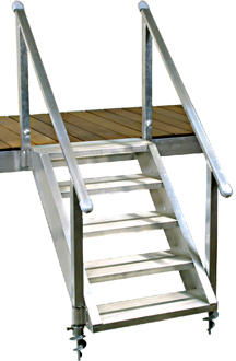 Beau DH Aluminum Dock Stairs