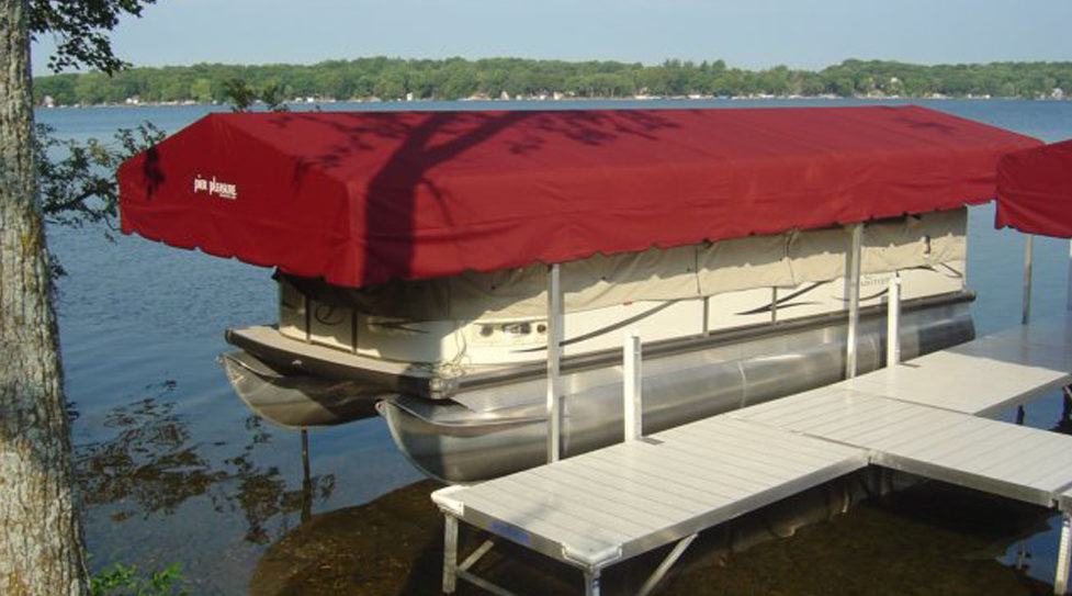 Boat Lift Canopies Stand Alone Canopies At Ease Dock