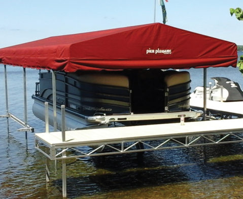 Pier Pleasure Free Standing Canopy Frame At Ease Dock Amp Lift